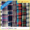 "21S Cotton Flannel Yarn Dyed Check Woven 140gsm 57/58"" yarn dyed flannel fabric"
