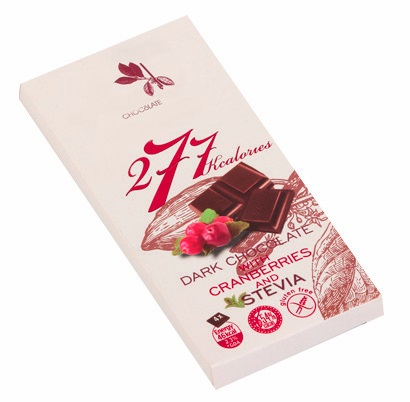 Dark Chocolate With Stevia And Cranberry - 80 g. Suitable For Diabetics. Private Label Available. Made In EU