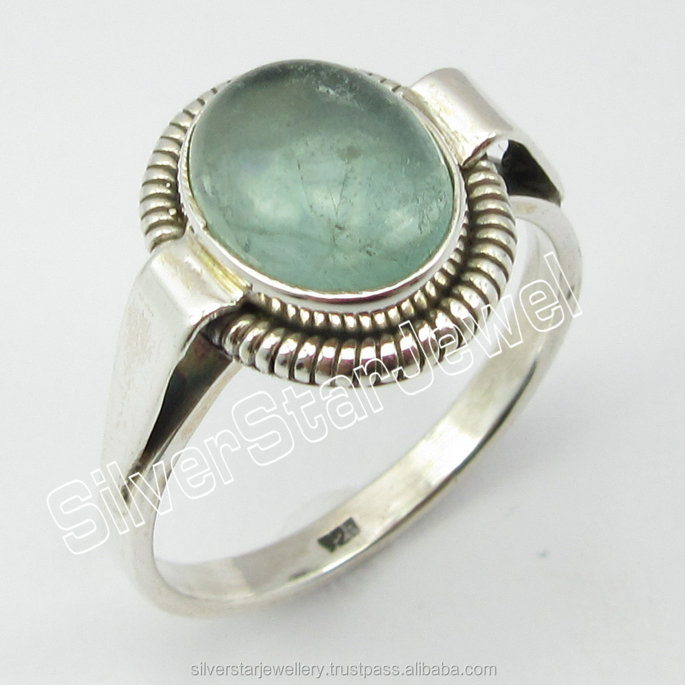 925 Sterling Silver APATITE Handmade Ring Size 9.25 Discount Jewelry Fashion Genuine Gemstone Nickel free Jewelry Wholesaler
