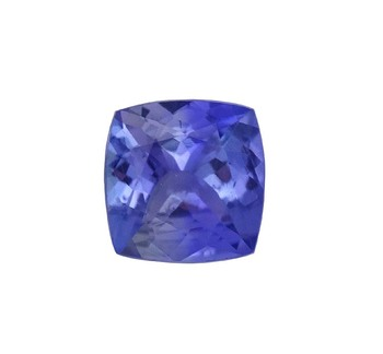 loose cushion cut natural AA tanzanite gemstone