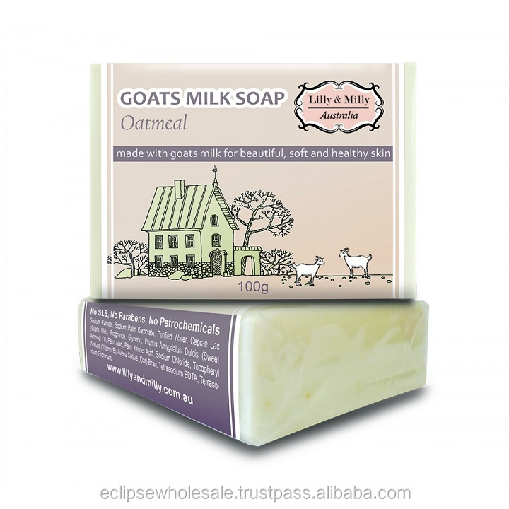 Lilly & Milly Australia - Goats Milk Soap 'Oatmeal' (100g)