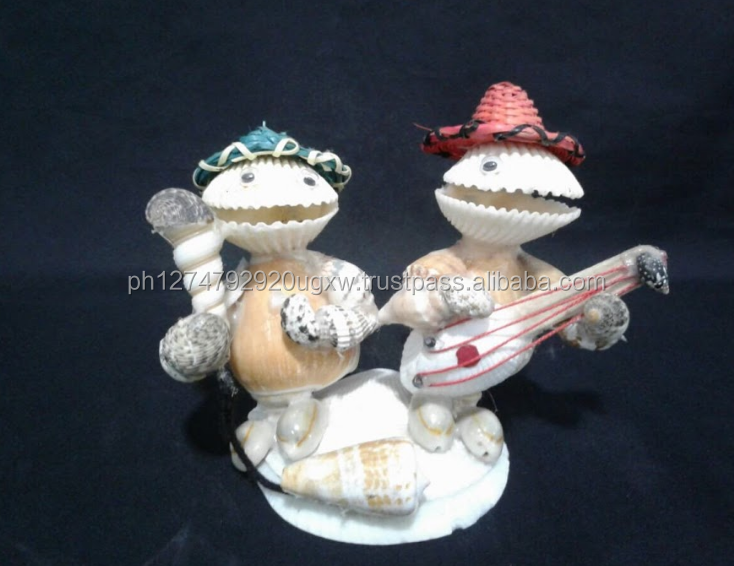 Seashells Philippine Handicrafts Singing Twins with Guitar