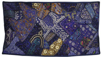 Indian Embroidered Patchwork Cotton Fabric Supplier Tapestry Wall Hangings