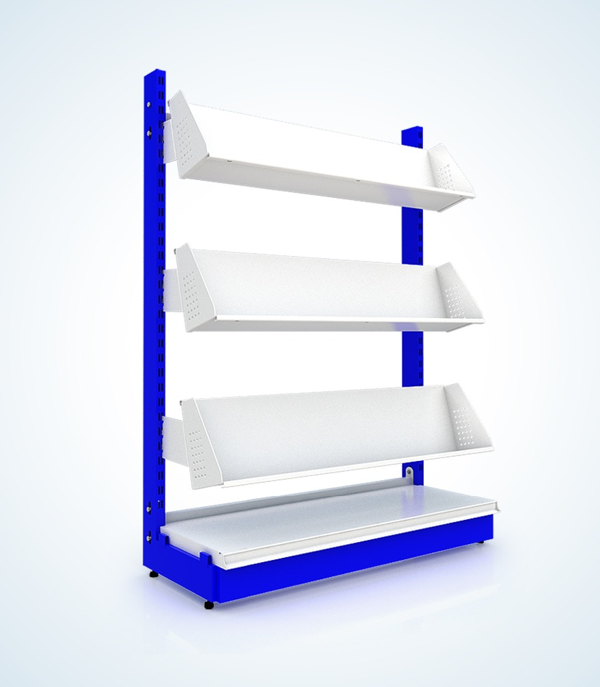 4-Tier 300 x 900 x 1500mm. Book Stand