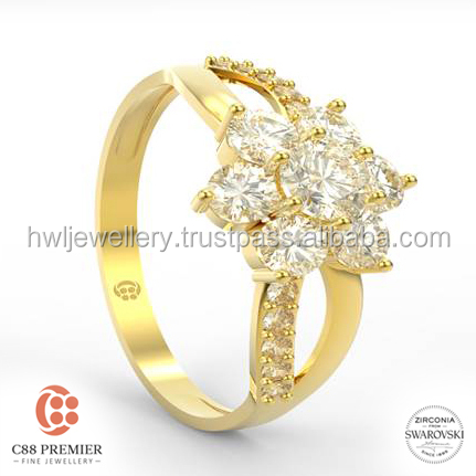 Star Flower Ring gold jewellery designs for girls