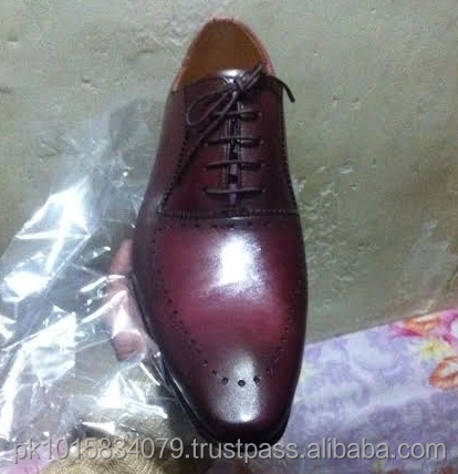 Maroon Black Two Tone Oxford Shoes, Beautiful Hand Made Genuine Leather Men Dress Shoes