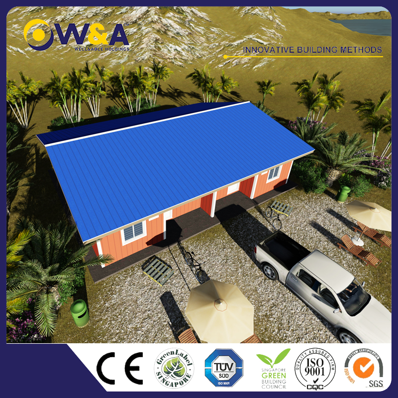 (WAS1010-36D)Philippines Fire Resistance Prefabricated Houses Factory For Sales