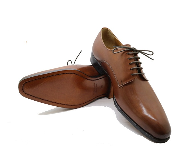 Whole Derby Vietnam cow genuine leather shoe for men