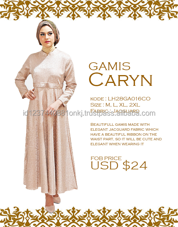 High Quality 2017 Gamis Caryn Islamic Clothing