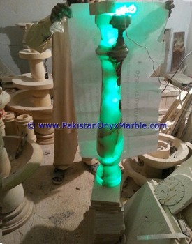 PAKISTAN PRODUCE HIGH QUALITY ONYX BALUSTRADE SERIES BACK LIT
