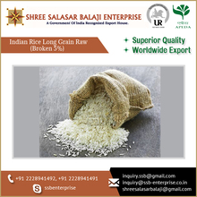 Protein Rich 5% Broken Long Grain Rice with Optimum Quality for Sale