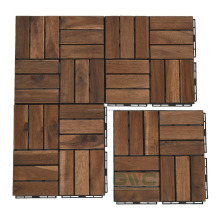 Acacia deck tiles with clips on each side - REFRESH your terrace or balcony