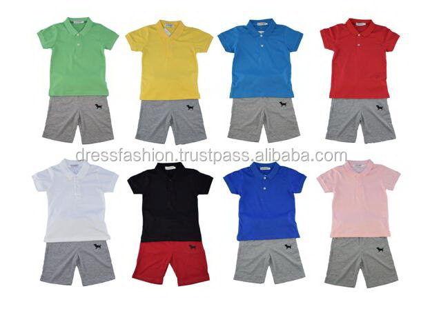 Children Polo shirts with Short Pant