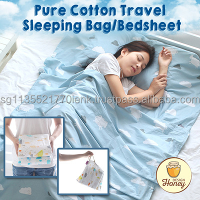 Honey Design - Pure Cotton Portable /Travel Sleeping Bag/ Bedsheet