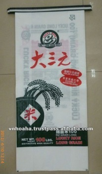 High quality BOPP laminated PP woven rice bag/sack