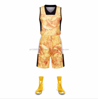 New Jersey Basketball Uniforms Exquisite Pattern Jersey Set Suits Sleeveless Kit