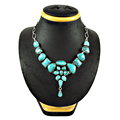 Fabulous sky turquoise necklace women jewellery 925 sterling silver gemstone necklaces online jewelry