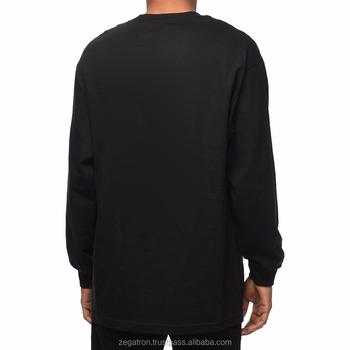 Zegaapparel custom made long sleeve black tshirt