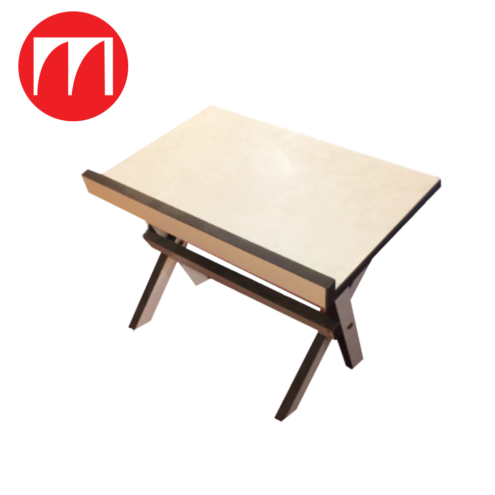 Beautiful Hot Selling Manufacturing Price High Quality Rehal Foldable Light Grey Melamine Laminated Foldable Study Table