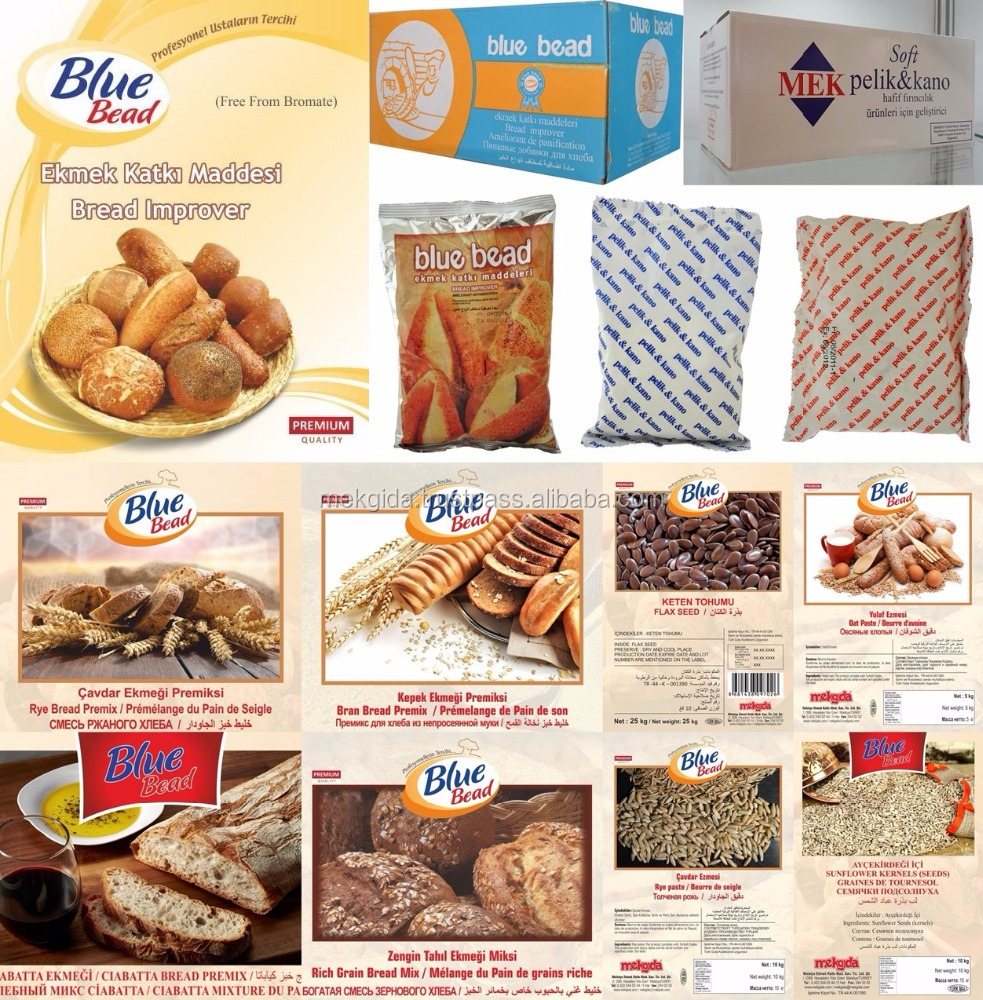 BAKERY BREAD INGREDIENTS (Bread Improvers & Premixes & Bread Decoration Items)