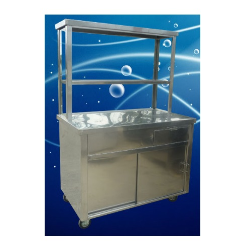 Stainless Steel Mee Stall for Food Preparation