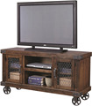 Industrial Style furniture Black Metal TV Stand, Recycle black Metal Tv unit with Wheels
