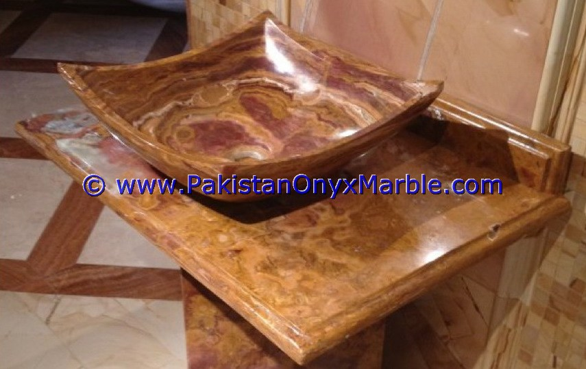 EXPORT QUALITY MULTI RED ONYX RECTANGLE SHAPED SINKS BASINS COLLECTION