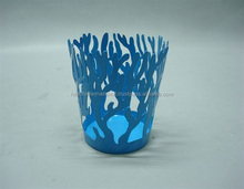 Coral Colored T Light Holder,Blue Colored Tea Light Holder,Designer Tea Light Holder