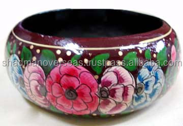 Enviromental colorful painted wooden bangles / Wooden Jewelry 11104