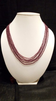 Natural garnet Stone Bead Neclace