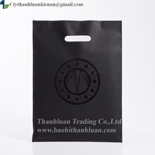 Black LDPE Patch Handle Carrier Cheapest Price Plastic Bag for supermarket
