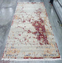 Hand knotted indian silk rugs 250*300/300*300 cm