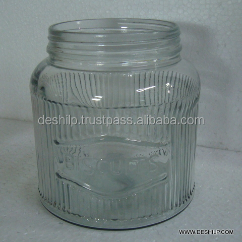 Glass Cookie and Biscuit Jar Glass Cutting And write biscuit by glass cutting antique design