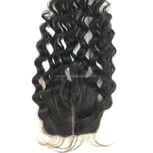 "100% Unprocessed Vietnamese Kinky Curly Middle Parting Lace Top Closure With Baby Hair 4"" x 4"""