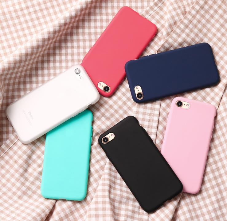 New iP7/6 plus mobile phone shell, silicone soft shell scrub, TPU candy color protective cover
