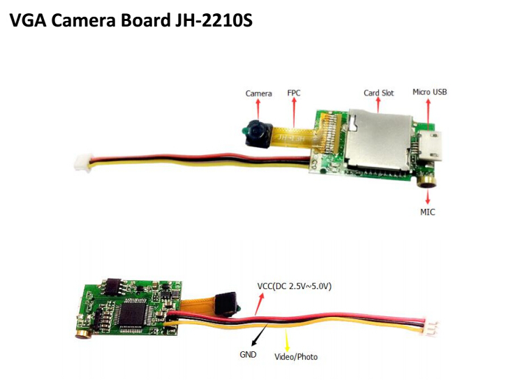 Joyhonest JH2210S VGA Small four axis Camera