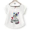 Women Summer Vintage T shirt with best quality cute printing 4 colors
