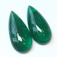 Natural AAA Grade Deep Green Color Matching Pair Pear Drop Zambian Emerald