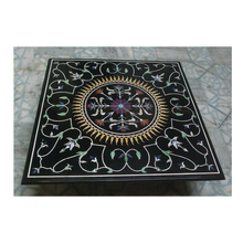 Grand Marble Rare Semi Precious Stone Inlay Dining Table Top