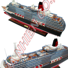 QUEEN VICTORIA CRAFT MODEL - WOODEN CRUISE SHIP MODEL