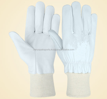Venus Pak long life leather assembly gloves / cow grain long working glove /construction leather safety gloves