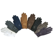 Horse Riding Suede Gloves / Equestrian Gloves / Horse Riding Genuine Leather Gloves