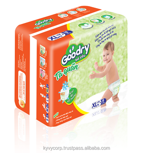 High quality disposable baby diaper with GOODRY brand from KY VY Corporation