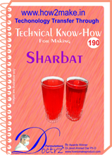 Technical know How report for making Sharbat