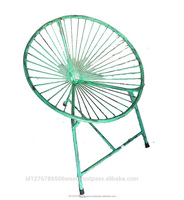 Iron Recycled Furniture Industrial Metal Cone Spider Chair Outdoor Furniture