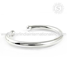 Glittering plain silver bangle indian silver bangle 925 sterling silver bangle jewellery wholesaler
