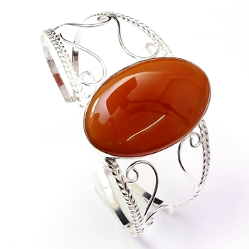Unique Natural Red Jasper Gemstone Silver Plated 커 프 Bangle Bracelet 제 보석