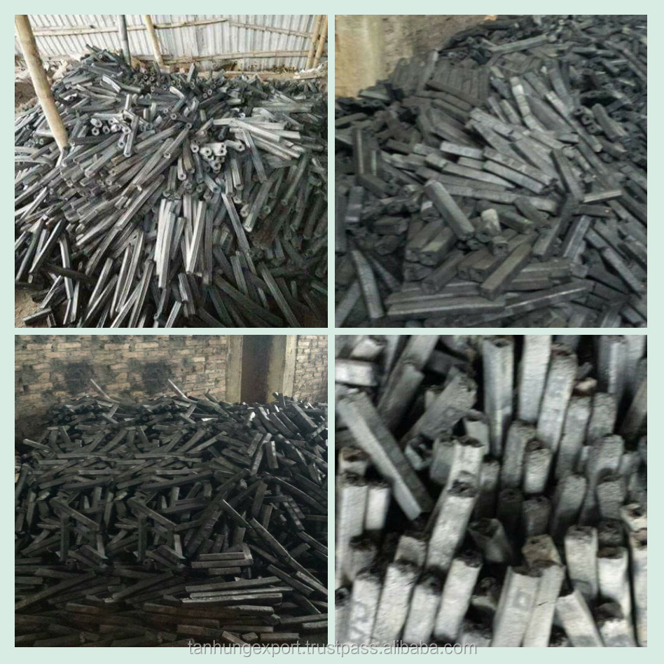 Long burning hexagonal sawdust briquette charcoal for sale