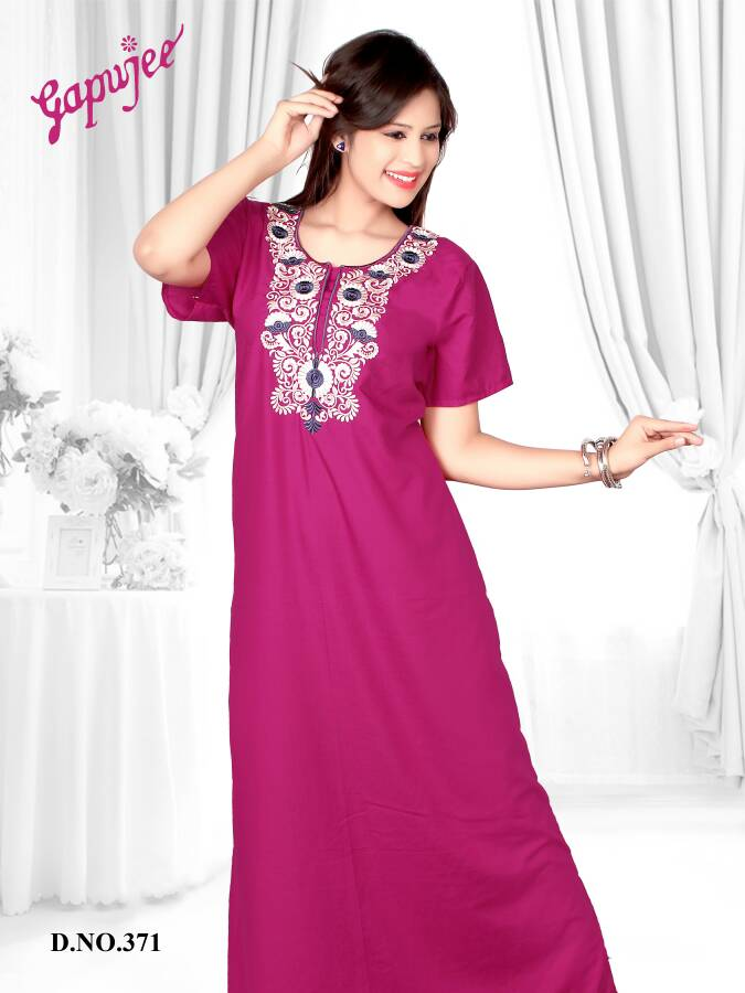 Gapujee Nighties and Night Gown Hosiery Material for Women and Girls