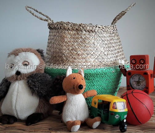 High quality Handmade Vietnamese Dipped Seagrass Belly Basket